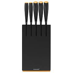 Набор ножей Fiskars Functional Form, 5 предметов, рукоять черная сантопрен (1014190)