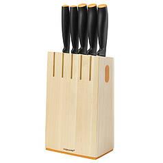 Набор ножей Fiskars Functional Form, 5 предметов, рукоять черная сантопрен (1014211)