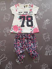 """Детский летний костюм """"78"""" для девочки на 6-12 месяцев"""