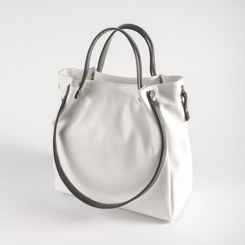 c26fe93152ce Белая сумка шоппер М130-79/Z летняя с черными ручками: продажа, цена ...