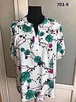 Женская блузка больших размеров Виктория  №7  фасон  в размерах от 50 до 58