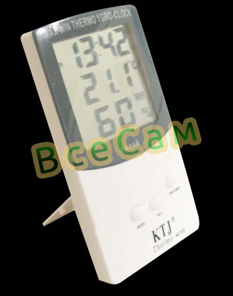 Влагомер (гигрометр), термометр с часами MAX-MIN