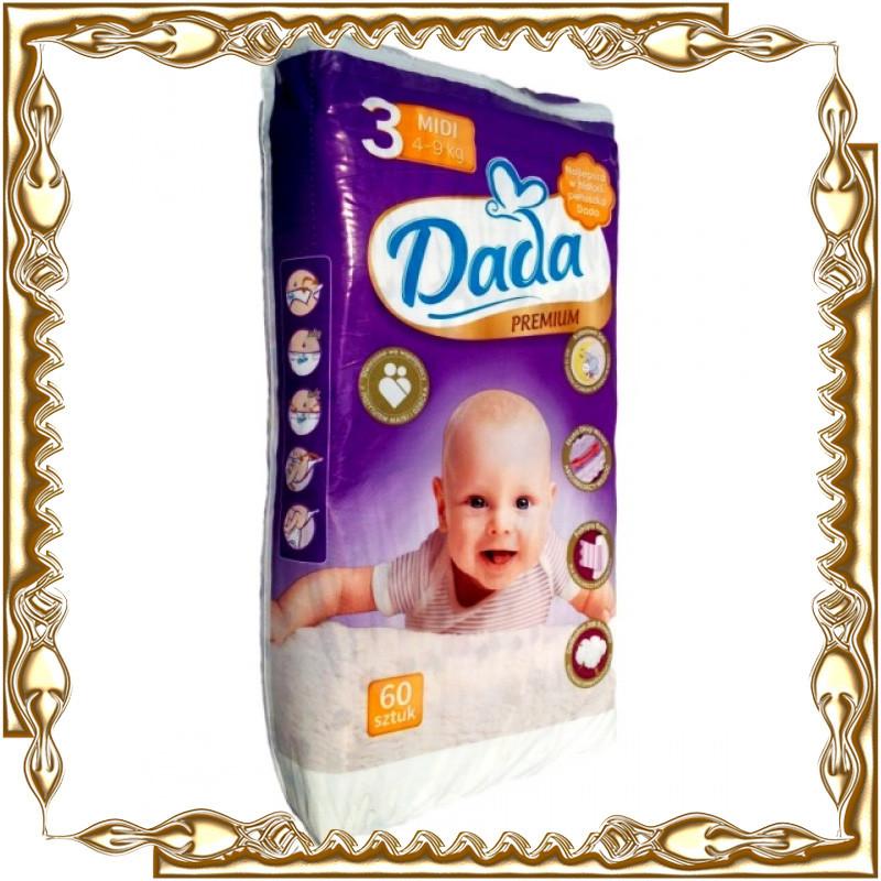 Детские подгузники DADA 3  размер (премиум)
