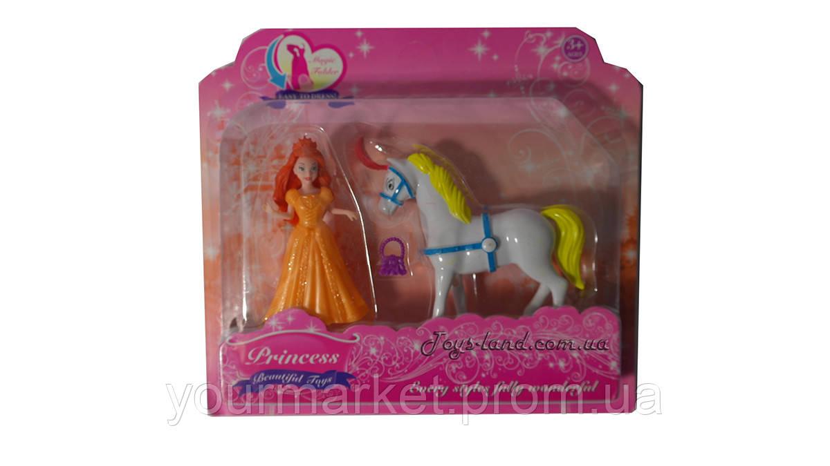 Кукла - фигурка принцесса с лошадкой и аксессуарами 002А