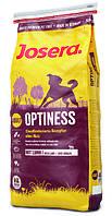 Josera Optiness сухой корм для слабоактивных собак Птица Баранина Мидии 4.5 кг
