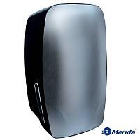 Держатель листовой туалетной бумаги в пачках Merida Mercury (нержавейка+чёрный ABS пластик), Англия