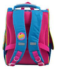 Рюкзак школьный 555162 каркасный H-11 Trolls turquoise, фото 2
