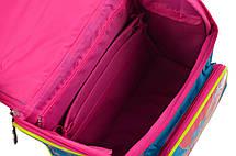 Рюкзак школьный 555162 каркасный H-11 Trolls turquoise, фото 3