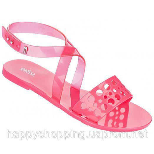 Женские ярко-розовые пахнущие босоножки  бразильского бренда Melissa