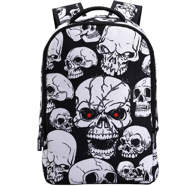 Школьный рюкзак с принтом Черепов
