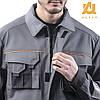 Костюм рабочий AURUM куртка и полукомбинезон из хлопка, фото 3