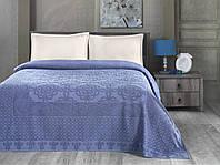 Комплект постельного белья летний Пике Евро Arya Estafan голубой