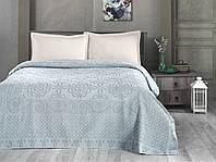 Комплект постельного белья летний Пике Евро Arya Estafan зеленый