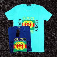 """Мужская футболка """"Gucci"""" M, Синий"""