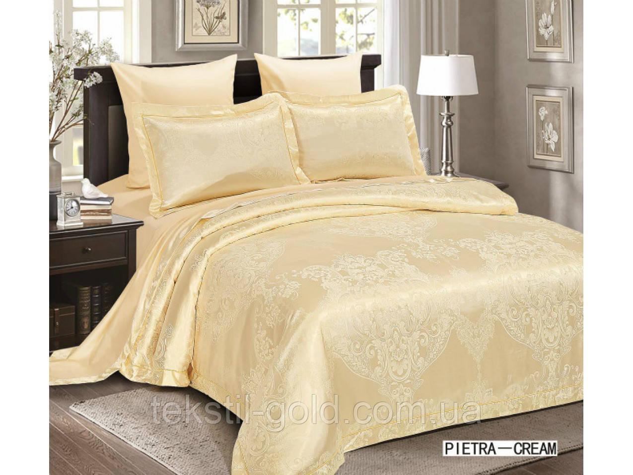 Комплект постельного белья 6 Предметов ТМ ARYA (Турция) Жаккард 2 Сп. евро 200Х220 Pietra