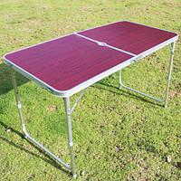Алюминиевый стол для пикника без стульев, размер 120 * 60 см.