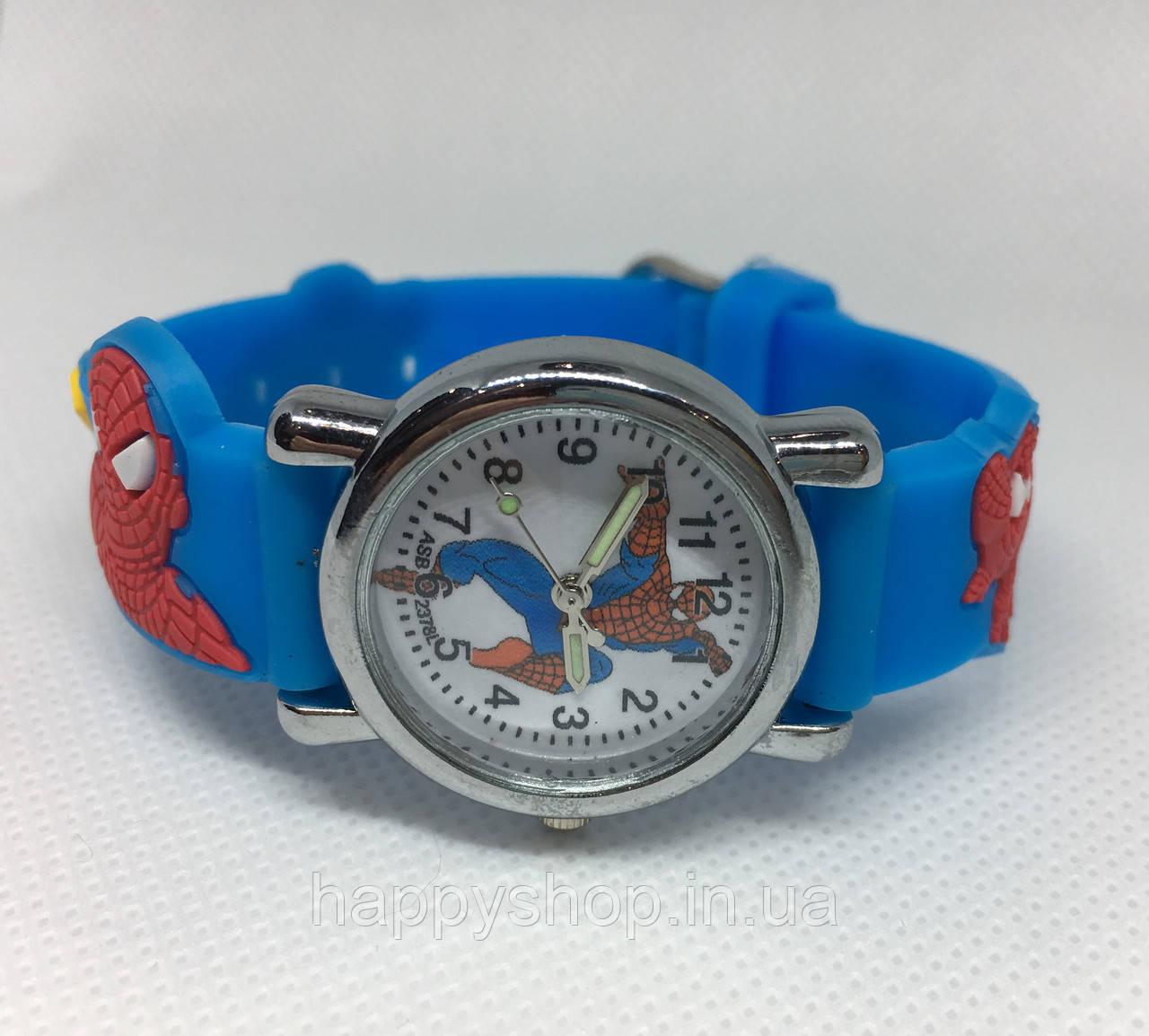 Детские наручные часы для мальчика SPIDER-MAN (голубые)