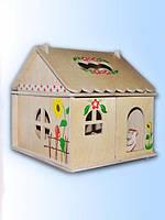 Кукольный домик с росписью 1эт., фото 1