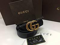 NEW 2018 Стильный кожаный ремень Gucci Lux из натуральной кожи с номерным знаком арт 2083, фото 1