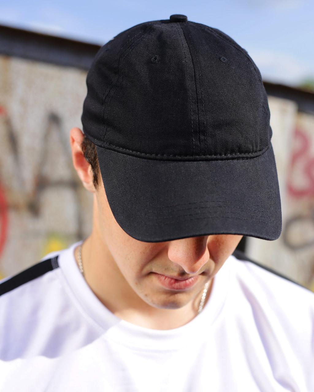 Черная кепка из хлопка