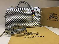 NEW 2018 Женская сумочка Burberry из натуральной кожи в Lux качестве цвет серебро арт 2089, фото 1