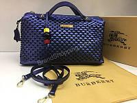 NEW 2018 Женская сумочка Burberry из натуральной кожи в Lux качестве цвет синий арт 2090, фото 1