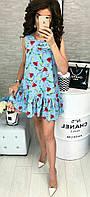 Платье женское с оборкой, фото 1