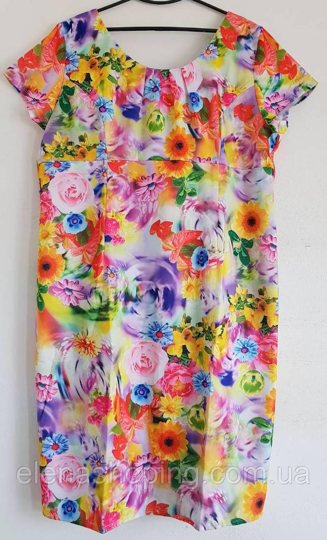 Нежное, романтичное платье для пышных модниц  (54-58р)