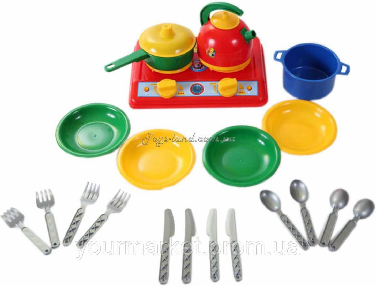 Набір посуду та плита