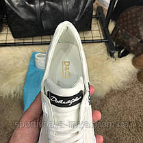 Dolce & Gabanna Portofino Sneakers White реплика, фото 3