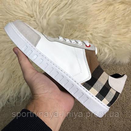 Burberry House Check Sneakers Optic White реплика, фото 2