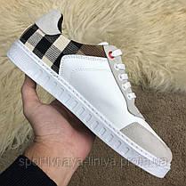 Burberry House Check Sneakers Optic White реплика, фото 3