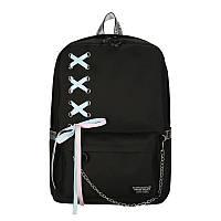 Черный рюкзак с лентами