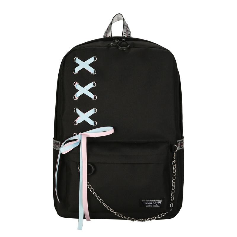 270e3a2c662b Черный рюкзак с лентами, цена 460 грн., купить в Киеве — Prom.ua (ID ...