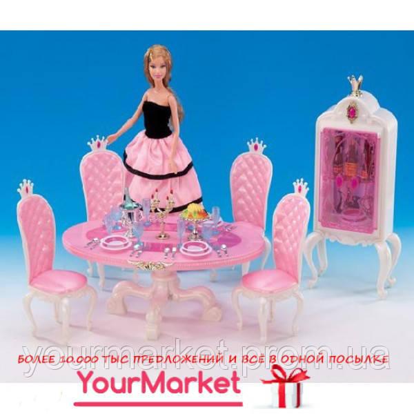 Глория GLORIA 1212 Столовая принцессы 1212 стол,4 стула,буфет,свечи,по