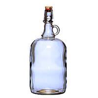 Стеклянная бутылка с гравировкой (2л)