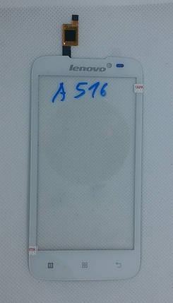 Cенсорный экран LENOVO A 516 WHIET, фото 2