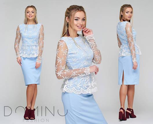 Платье с вышивкой по сетке, фото 2