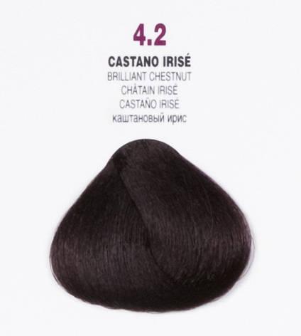 Краска для волос 4.2 Brelil Colorianne Classic радужный каштановый 100 мл, фото 2