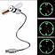 USB Mini часы гибкий вентилятор с LED свет для портативных ПК, фото 2