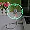 USB Mini часы гибкий вентилятор с LED свет для портативных ПК, фото 3