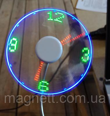 USB Mini часы гибкий вентилятор с LED свет для портативных ПК