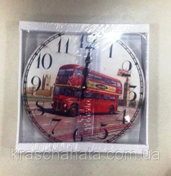 Часы, ретро, Лондонский автобус, 29 см, Днепр