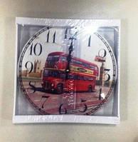 Часы, ретро, Лондонский автобус, 33 см, Днепр