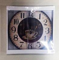 Часы, ретро, Кофе, 29 см, Днепр