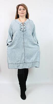 Платье джинс Darkwin (Турция),рр 60-66