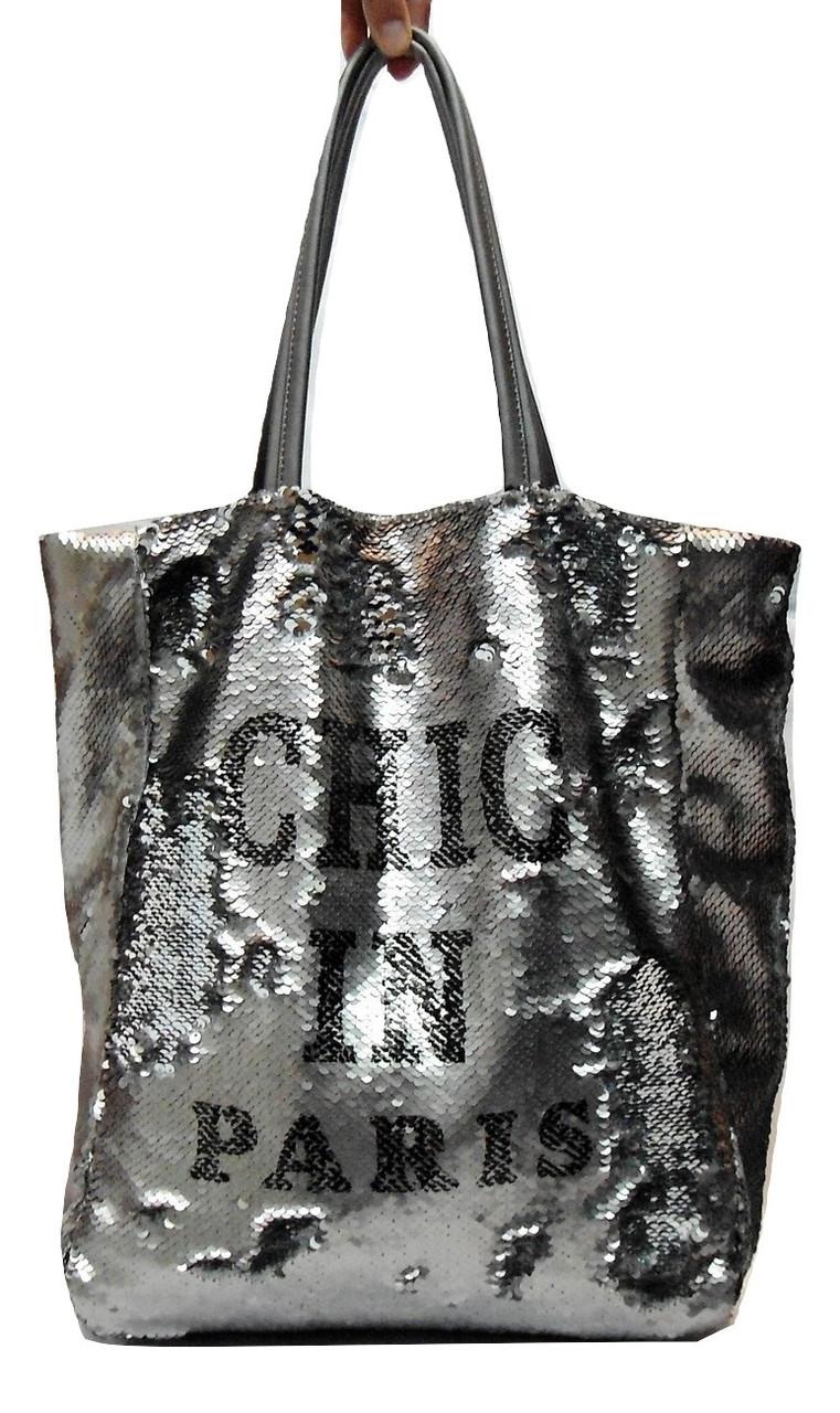 Эксклюзивная женская сумочка серебристого цвета ВQQ-656006, фото 1