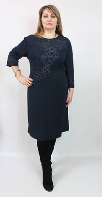 Платье приталенное с россыпью бусин SIRIUS (Турция),рр 56-62