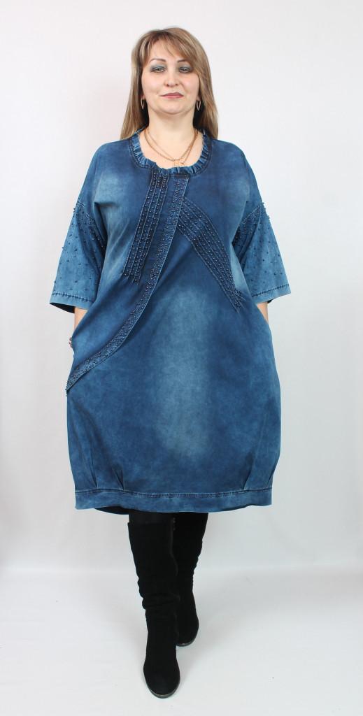 5cab7693733 Джинсовое платье AY-SEL (Турция) рр 50-66  продажа