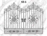 Кованые ворота 2700х1730